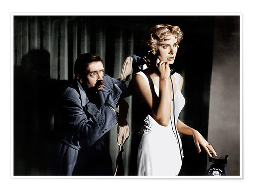 Póster Dial M for Murder, from left: Anthony Dawson, Grace Kelly in 1954