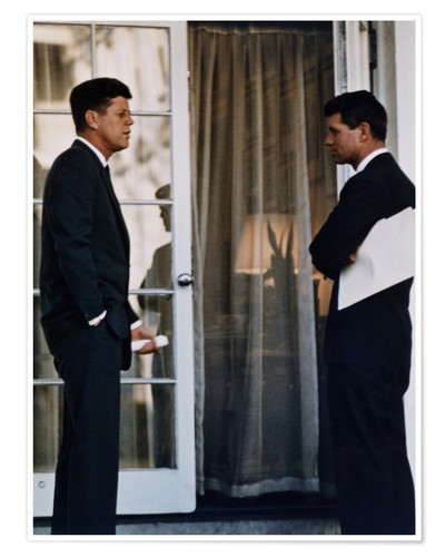 Póster President Kennedy and his brother Robert Kennedy