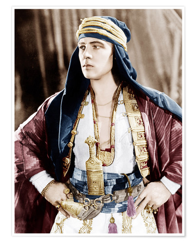Póster Rudolph Valentino - The Sheik