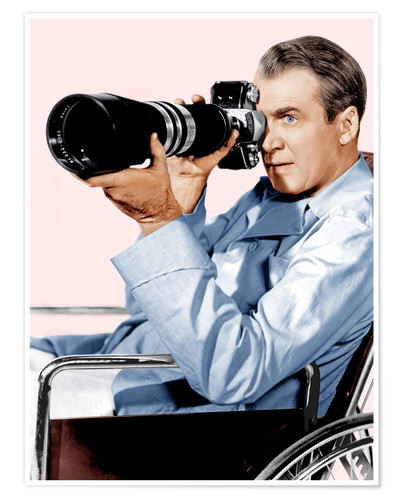 Póster REAR WINDOW, James Stewart, 1954