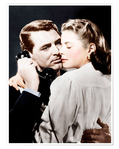 Póster NOTORIOUS, from left: Cary Grant, Ingrid Bergman, 1946