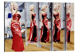 Cuadro de aluminio  Marilyn Monroe in front of mirrors