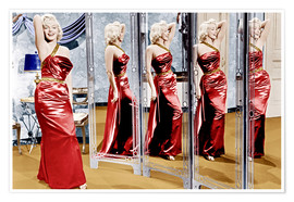 Póster Marilyn Monroe in front of mirrors