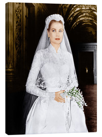 Lienzo  The Wedding in Monaco, Grace Kelly