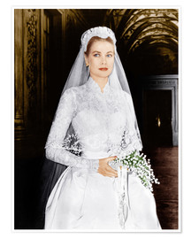 Póster  The Wedding in Monaco, Grace Kelly
