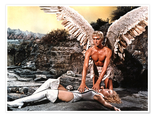 Póster BARBARELLA, Jane Fonda, John Phillip Law, 1968