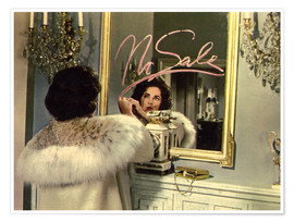 Póster Elizabeth Taylor in front of a mirror