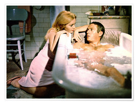 Póster  Tuesday Weld and Steve McQueen in The Cincinnati Kid
