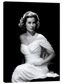 Lienzo  Grace Kelly in a white dress