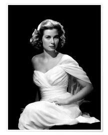 Póster  Grace Kelly in a white dress