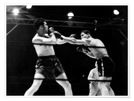 Póster  Max Schmeling fights against Joe Louis