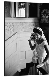 Cuadro de aluminio  Jackie Kennedy at her wedding