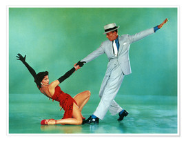 Póster  THE BAND WAGON, Cyd Charisse, Fred Astaire, 1953