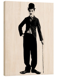 Madera  Charlie Chaplin with walking stick