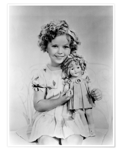 Póster Shirley Temple with a Shirley Temple doll