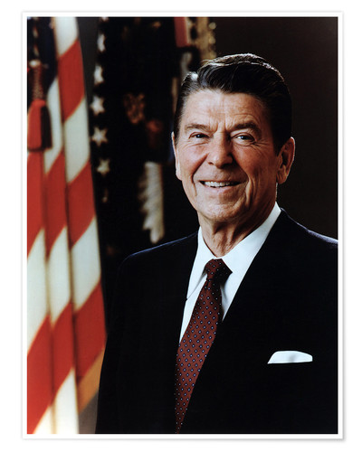 Póster Official Portrait of President Reagan in February 1981