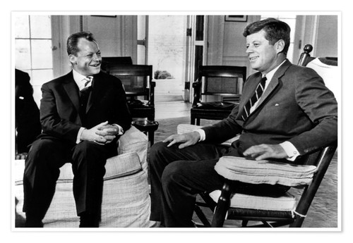Póster Chancellor Willy Brandt and President John F. Kennedy
