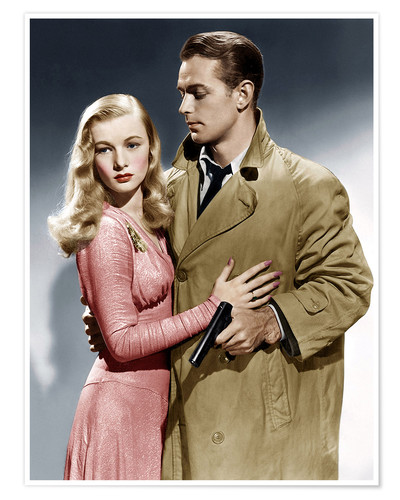 Póster THIS GUN FOR HIRE, from left: Veronica Lake, Alan Ladd, 1942