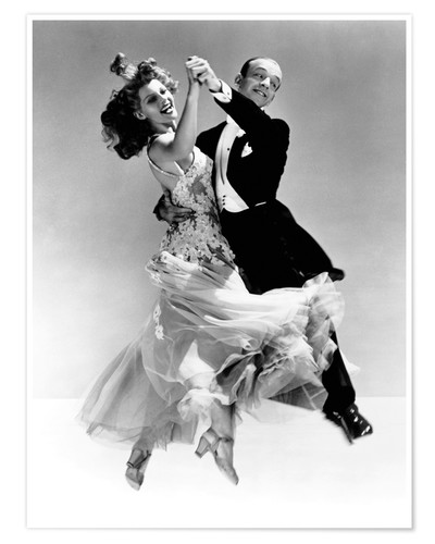 Póster Rita Hayworth y Fred Astaire