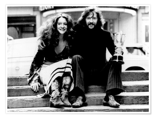 Póster Eric Clapton and Alice Ormsby-Gore