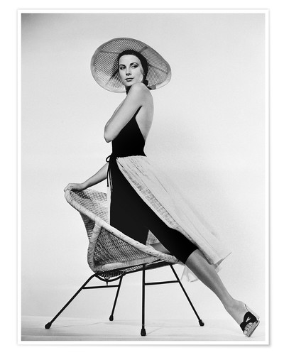 Póster Grace Kelly with hat