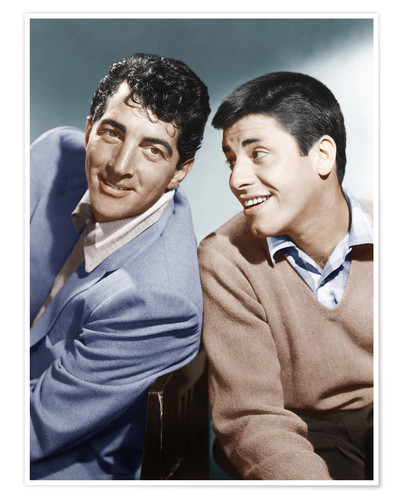 Póster From left: Dean Martin, Jerry Lewis, early 1950s