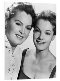 Cuadro de PVC  Romy Schneider with her mother Magda Schneider