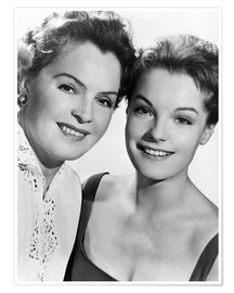 Póster  Romy Schneider with her mother Magda Schneider