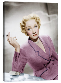 Lienzo  Marlene Dietrich, wearing a suit by Christian Dior
