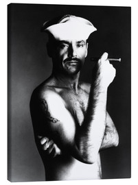 Lienzo  Jack Nicholson with sailor hat and cigar