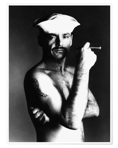 Póster Jack Nicholson with sailor hat and cigar