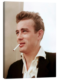 Lienzo  James Dean with cigarette