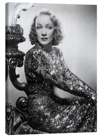 Lienzo  Marlene Dietrich in a sequined dress