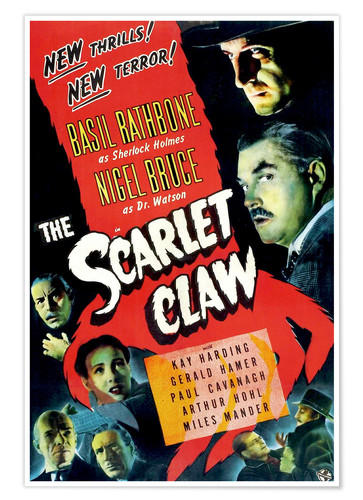 Póster The Scarlet Claw