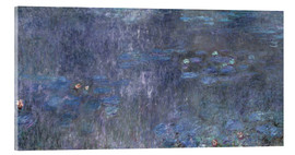 Cuadro de metacrilato  Water Lilies, Reflection of trees 2 - Claude Monet