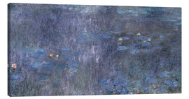 Lienzo  Water Lilies, Reflection of trees 2 - Claude Monet