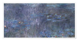 Póster  Water Lilies, Reflection of trees 2 - Claude Monet
