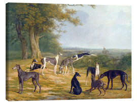 Lienzo  Nine Greyhounds in a Landscape - Jacques Laurent Agasse