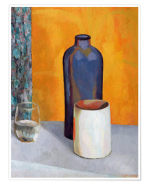 Póster  Still Life with a Blue Bottle - Roger Fry