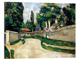 Cuadro de PVC  Houses Along a Road - Paul Cézanne