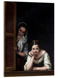 Metacrilato  Women from Galicia at the Window - Bartolome Esteban Murillo