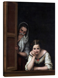 Lienzo  Women from Galicia at the Window - Bartolome Esteban Murillo