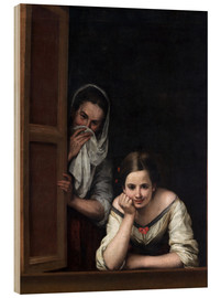 Madera  Women from Galicia at the Window - Bartolome Esteban Murillo