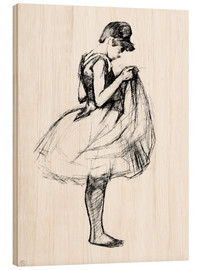 Cuadro de madera  Dancer in skirt - Henri de Toulouse-Lautrec