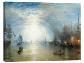 Lienzo  Transportando el carboón a la luz de luna - Joseph Mallord William Turner