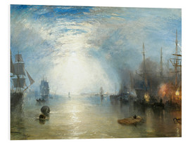 Cuadro de PVC  Transportando el carboón a la luz de luna - Joseph Mallord William Turner