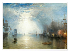 Póster  Transportando el carboón a la luz de luna - Joseph Mallord William Turner