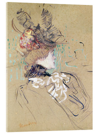 Cuadro de metacrilato  Profile of a woman - Henri de Toulouse-Lautrec