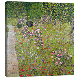 Lienzo  Orchard with roses - Gustav Klimt