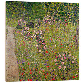 Madera  Orchard with roses - Gustav Klimt
